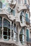 Casa Batllo. Facade of famous house Casa Batllo  by Antoni Gaudi, Barcelona, Spain Stock Image