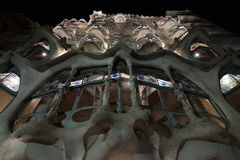Casa Batllo Facade house. Barcelona landmark, Spain. Stock Images