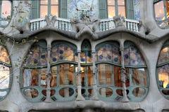 Casa Batllo, Gaudi arkitektur, Eixample, Barcelona, Spanien Royaltyfri Fotografi