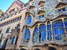 Casa Batllo by Gaudi, Barcelona Royalty Free Stock Photo