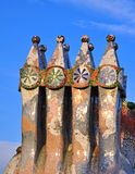 Casa Batllo by Gaudi, Barcelona Stock Images