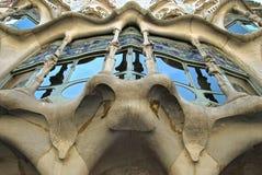 Casa Batllo. House are designed by famous architect Antoni Gaudi Stock Image