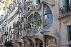 Casa batllo and house nearby Stock Photography