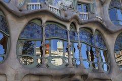 Casa Batllo i Barcelona Royaltyfria Foton