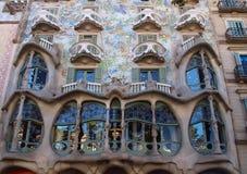 Casa Batllo i Barcelona Royaltyfri Fotografi