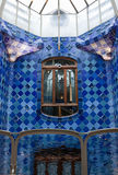 Casa Batllo interior.Mozaic on the walls. Antonio Royalty Free Stock Photo