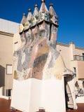 Casa Batllo mosaic chimney. Barcelona, Spain - December 2011 : Mosaic chimney of Casa Batllo, Barcelona Spain Stock Images