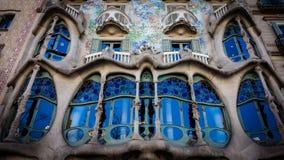 Casa Batllo, museo modernista de Antonio Gaudà en Barcelona Foto de archivo libre de regalías