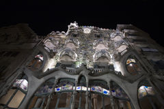 Casa Batllo at night Stock Images