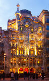 Casa Batllo in night. Barcelona Stock Photography