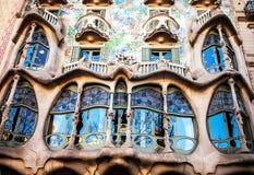 Casa Batllo på April 20, 2016 i Barcelona, Spanien Fotografering för Bildbyråer