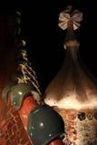 Casa Batllo. Roof of Casa Batllo on Passeig de Gracia, Barcelona, Spain royalty free stock photo