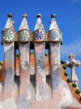 Casa Batllo rooftop. Detailed image of Casa Batllo building rooftop in Barcelona, Spain Royalty Free Stock Photography