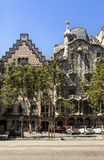 Casa Batlo and Amatller Facade Barcelona Spain Royalty Free Stock Photo