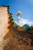Casa Batlo dach Obrazy Stock