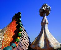 Casa Batlo - Gaudi. Dragon roof of Casa Batlo - Barcelona, Spain Stock Photography