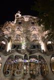 Casa Batlo noc Zdjęcia Royalty Free