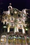 Casa Batlo nocą Zdjęcia Royalty Free