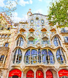 Casa Batlo. Outdoor view Gaudi's creation-house Casa Batlo. Spain stock images