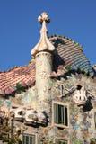 Casa Battlo. One of Gaudi's houses in Barcelona Royalty Free Stock Photos