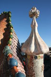 Casa Battlo. One of Gaudi's houses in Barcelona Stock Photos