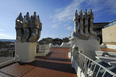 Casa Battlo Apartments of Antoni Gaudi Stock Images