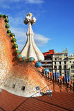 Casa Battlo Apartments of Antoni Gaudi royalty free stock image
