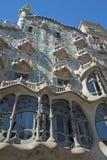 Casa Battlo in Barcelona. (Catalunya, Spain). Vertically stock photo