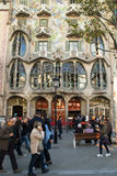 Casa Battlo in Barcelona, Spain Royalty Free Stock Image