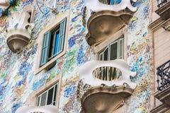 Casa Battlo della Camera a Barcellona, Spagna Fotografie Stock