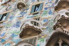 Casa Battlo della Camera a Barcellona, Spagna Fotografia Stock Libera da Diritti