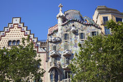 Casa Battlo designed by Antoni Gaudi Royalty Free Stock Photography