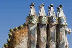 Casa Battlo - Details Royalty Free Stock Image