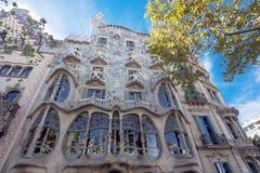 Casa Battlo di Barcellona Fotografia Stock Libera da Diritti