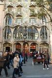 Casa Battlo en Barcelona, España Imagen de archivo libre de regalías