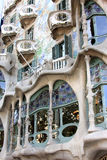 Casa Battlo in L'Eixample, Barcelona. Casa Battlo, located at 43, Passeig de Gracia, is a building restored by Antoni Gaudi and Josep Maria Jujol, built in the Stock Images