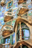Casa Battlo. One of Antoni Gaudi famous designs stock photography