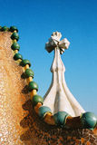 Casa battlo roof Stock Images