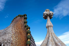 Casa Battlo - roof detail Royalty Free Stock Photography