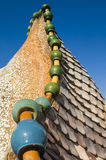 Casa Battlo -  Roof Details Stock Photo