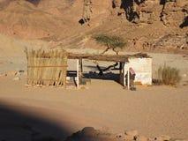 Casa beduína no deserto Fotografia de Stock