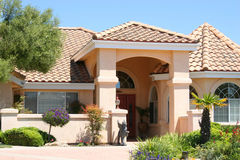 Casa beige di lusso Fotografia Stock