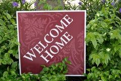 Casa benvenuta Fotografie Stock Libere da Diritti