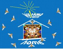 Casa benvenuta royalty illustrazione gratis