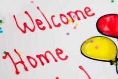 Casa benvenuta Immagini Stock