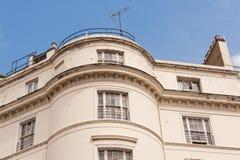 Casa bianca del terrazzo a Londra. Fotografia Stock Libera da Diritti