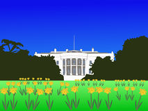 Casa bianca in primavera Fotografia Stock Libera da Diritti