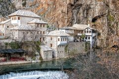 Casa Blagaj do dervixe de Mostar Imagem de Stock