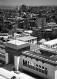 Casa Blanca 1958. Casablanca, Morocco - 16th May 1958 - View of Mohammed V Palace from Municipilaty Building Clock Tower in Casablanca stock image