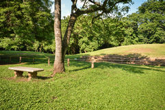 Casa Blanca archeologiczny miejsce majowie cywilizacja w Salwador america środkowy metaforyka map nasa Zdjęcie Royalty Free